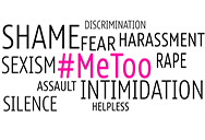 #Metoo sexual harassment hastag on words