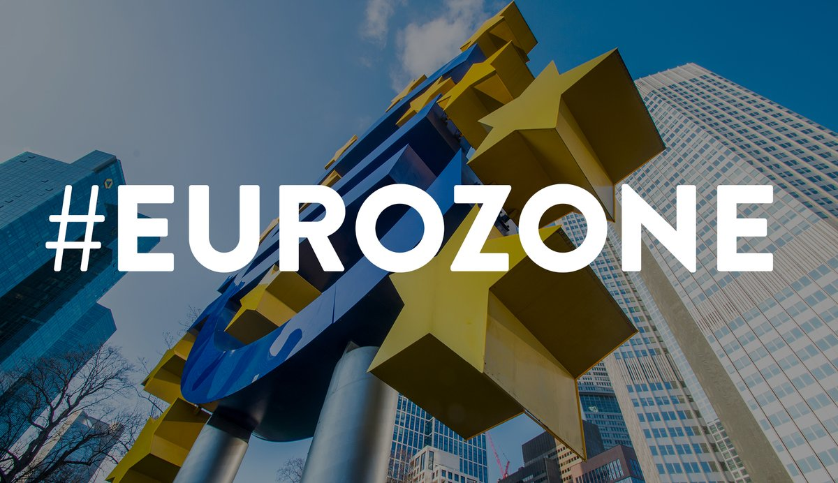 Euro sign and #Eurozone