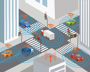 intelligent transport system, Cooperative Intelligent Transport System (C-ITS), cars and lorries on road