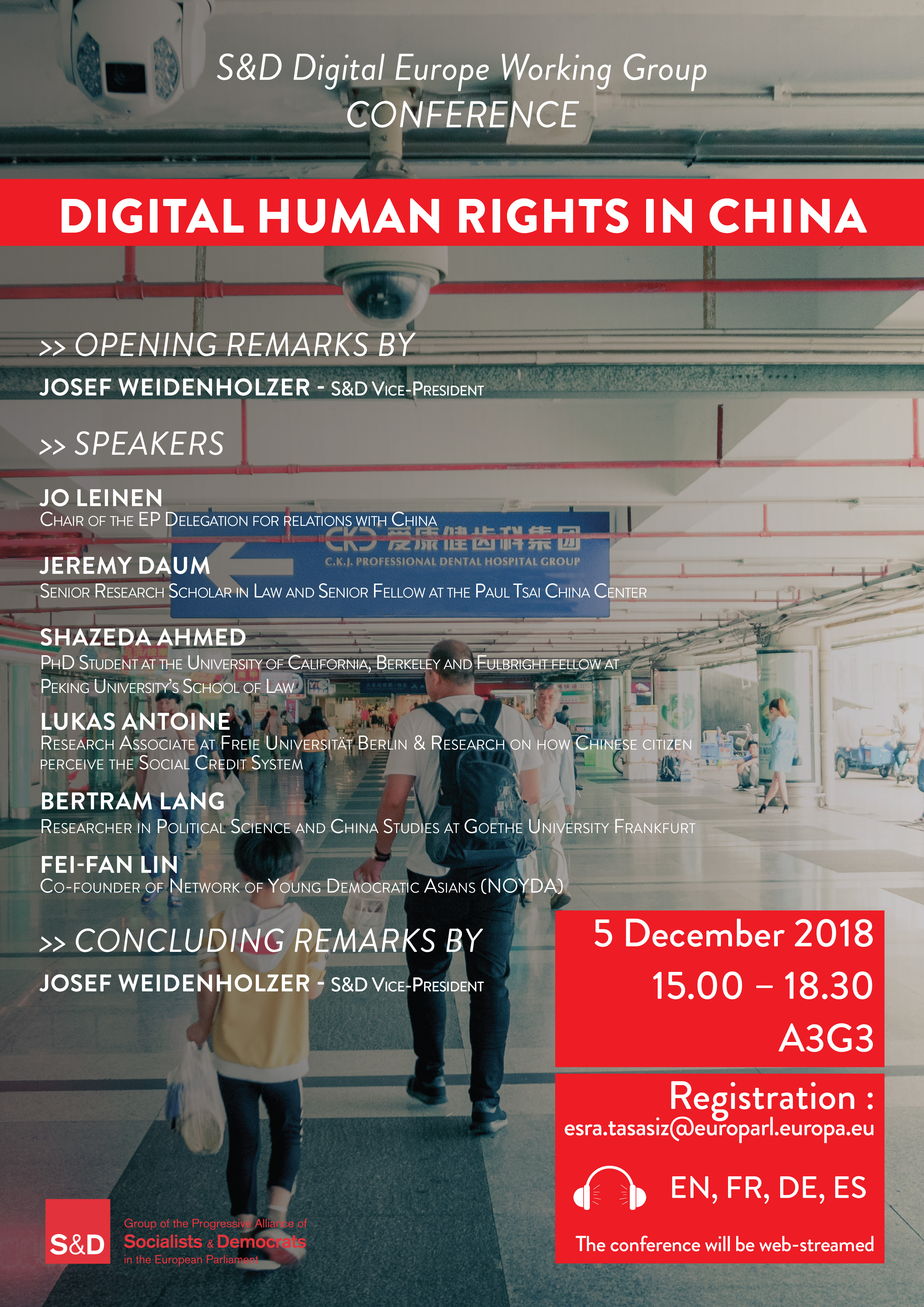 S&D Digital Europe Working Group Conference - Digital Human Rights in China.