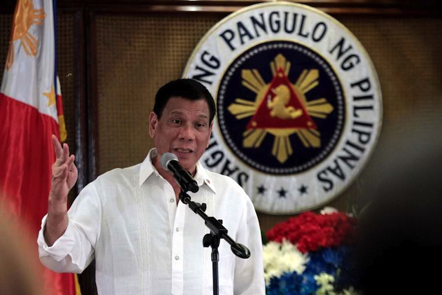 President Duterte of the Philippines