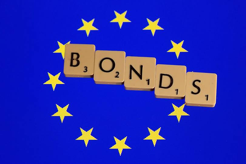EU stars and letters BONDS over them
