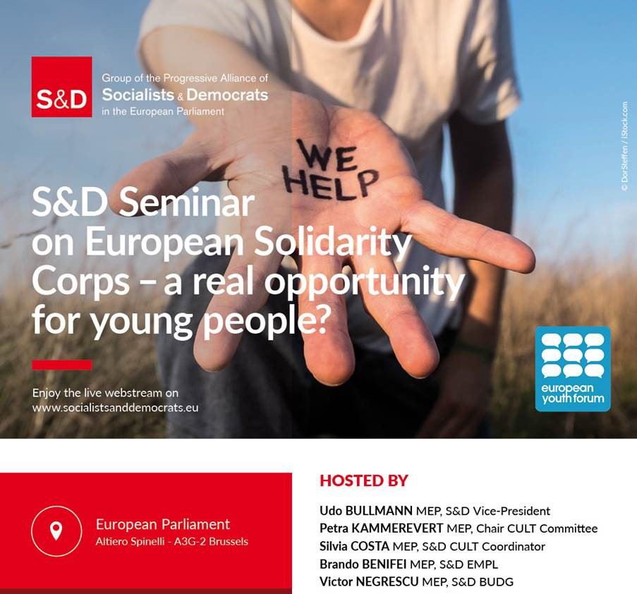 Event European Solidarity Corps - a real opportunity for young people
