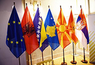 eu and western balkans flags