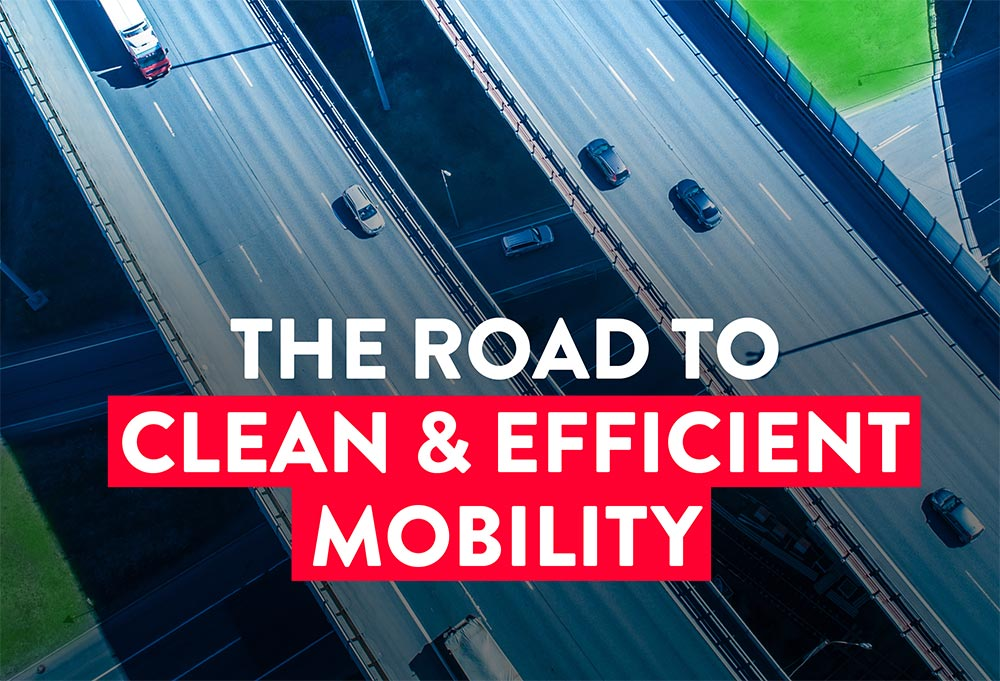 The road to clean and efficient mobility - lorry on motoway