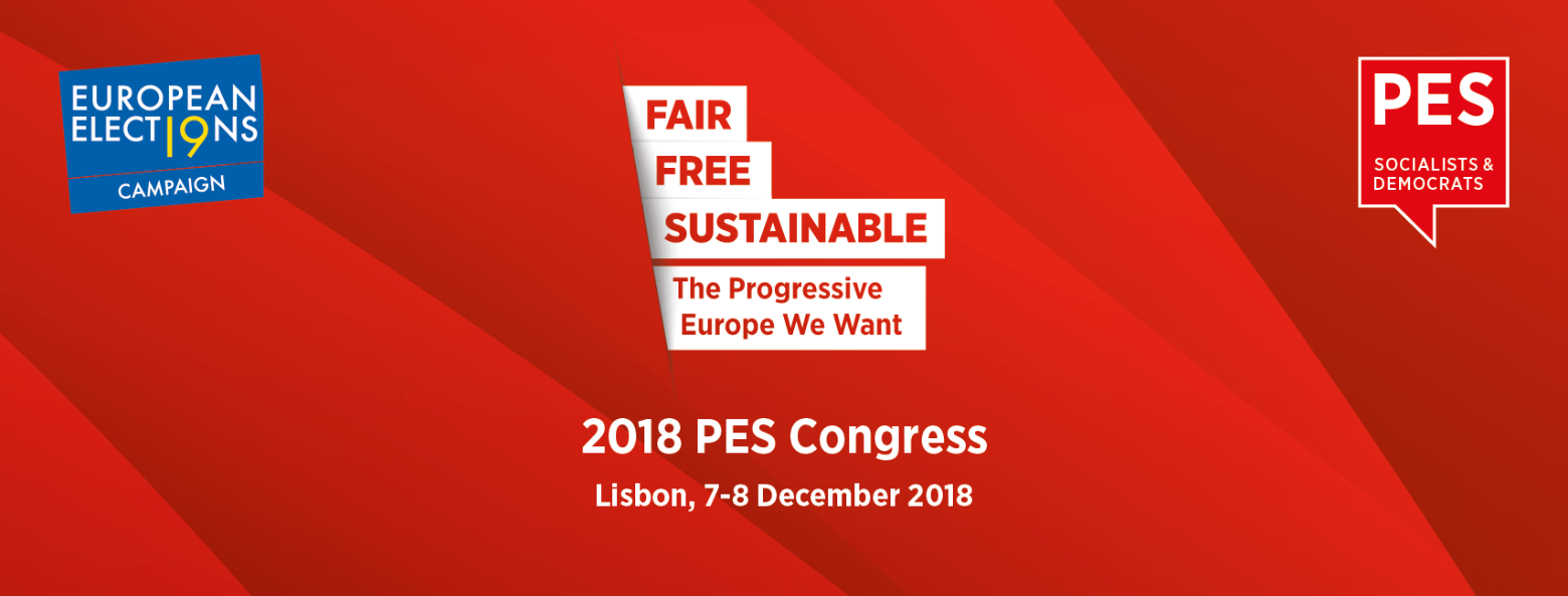 PES Congress Lisbon event poster 2018