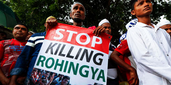 persecution of Rohingya - stop killings poster