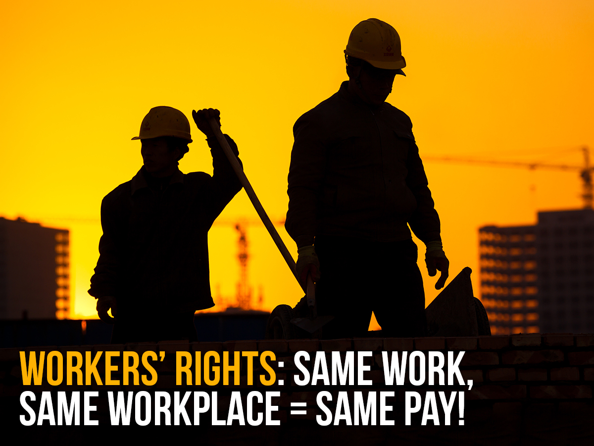 Construction workers - sun behind - Posted-Workers_equal_pay_same_job