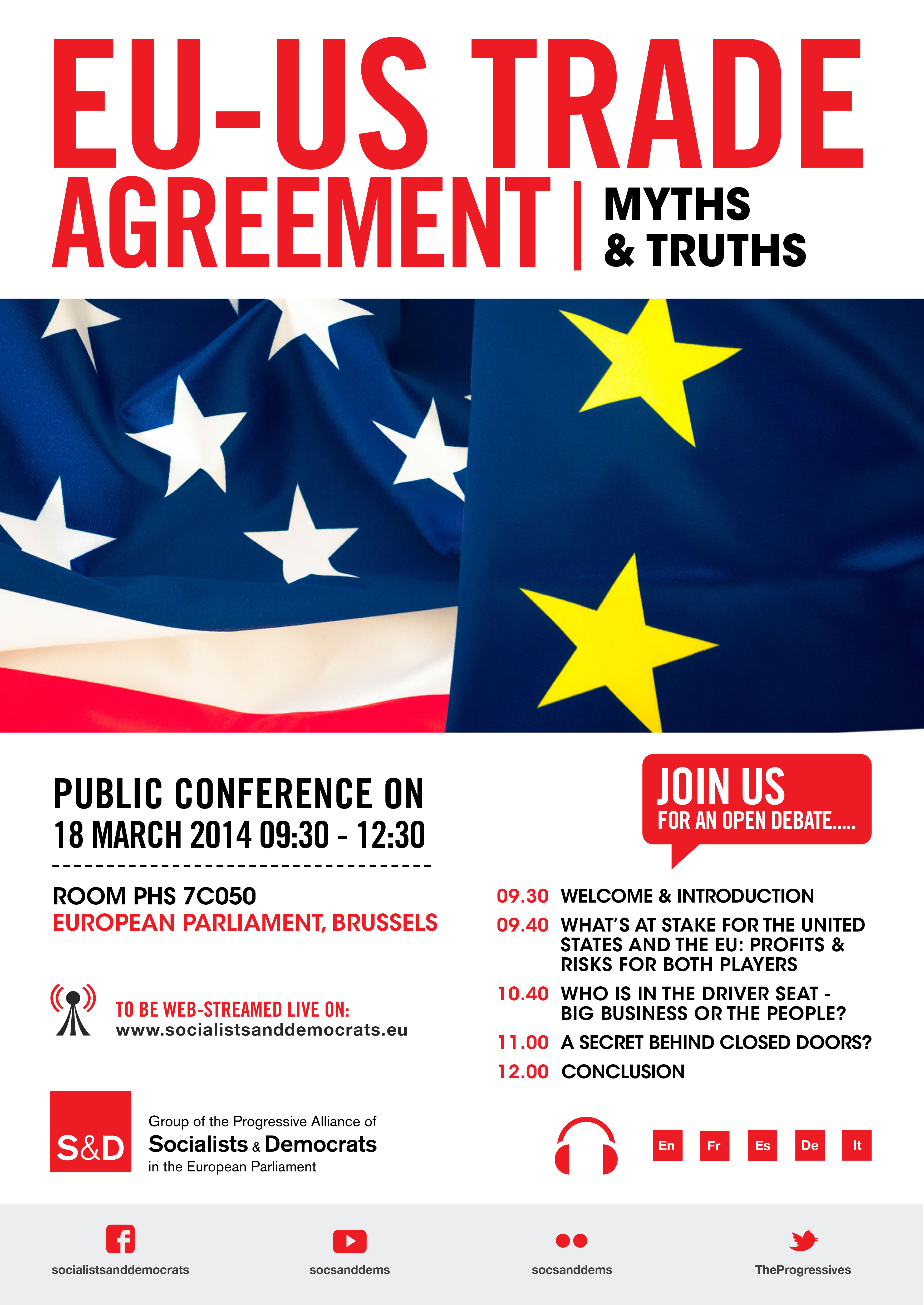 Sd Conference Eu Us Trade Agreement Myths And Truths