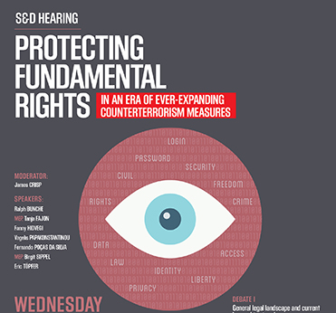 S&D Hearing: Protecting Fundamental rights in an Era of  ever-expanding counterterrorism measures