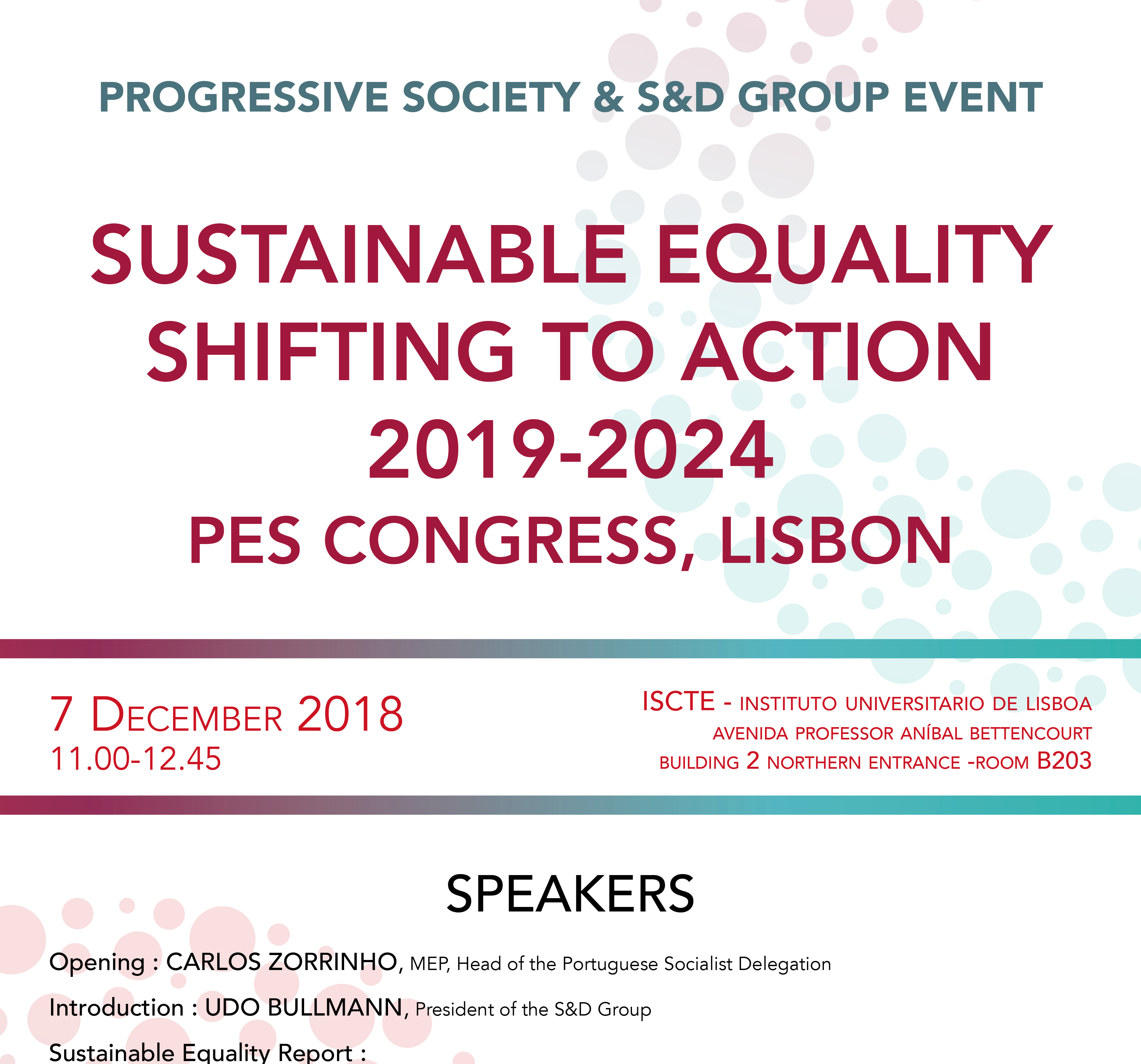 Sustainable Equality – Shifting to Action 2019-2024
