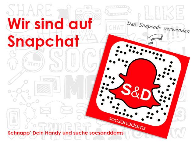 Wir sind auf Snapchat