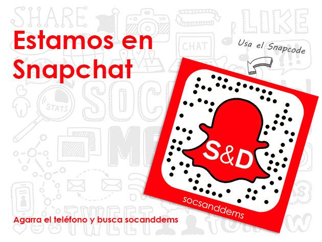 Estamos en Snapchat