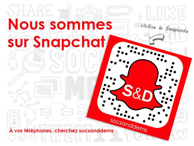 Nous sommes sur Snapchat