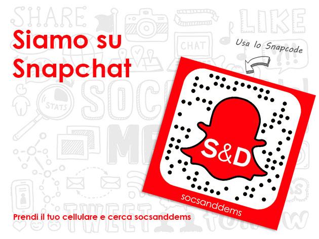 Siamo su Snapchat