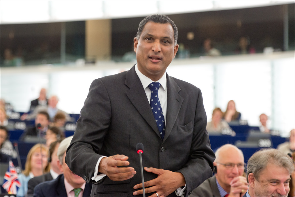 ECR leader Syed Kamall in Strasbourg parliament