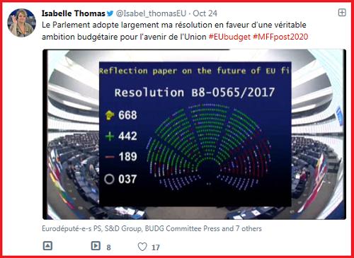 Tweet de Isabelle Thomas