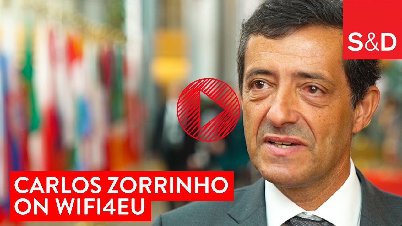Carlos Zorrinho on WiFi4EU video link