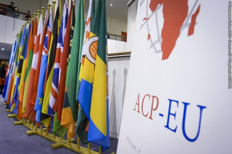 ACP and EU flags