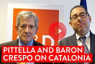 Catalonia: Gianni Pittella and Enrique Barón Crespo call for dialogue within the law