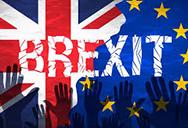 BREXIT EU flag and UK flag