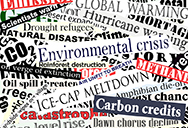 Newspaper word cuttings on energy and climate