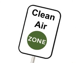 Sign post - Clean Air Zone