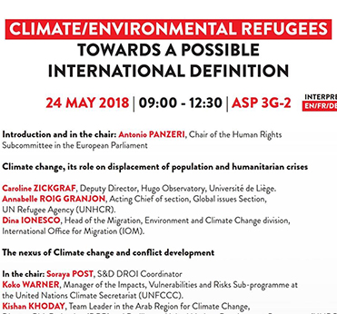 S&D Conference: Climate / Environmental Refugees - Towards a possible International definition