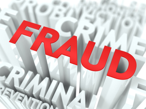FRAUD in big red letters