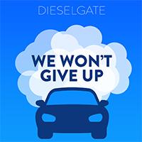 Dieselgate - blue car and smoke