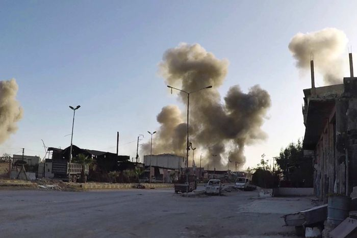 chemical bombing attack in Douma, Syria