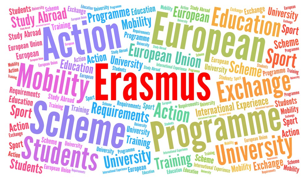 puzzle of words Erasmus+ and related topics