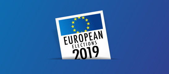 European elections 2019 - voting box