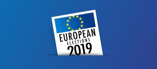 European elections 2019 - voting box