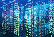 World financial markets graph