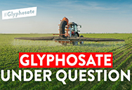 S&Ds on glyphosate: tractor spraying in a field