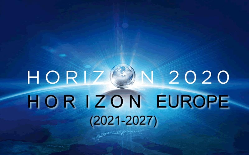 Horizon Europe budget Multiannual Financial Framework (MFF) 2021-2027 - on globe