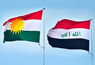Kurdisgtan and Iraqi flags
