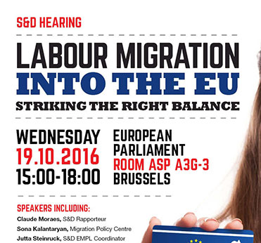 S&D Hearing: Labour Migration into the EU and the Blue Card - Striking the Right Balance