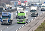 lorries, co2 emmissions on motorway