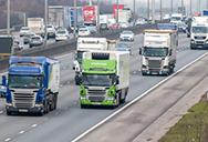 lorries, co2 emmissions on motorway