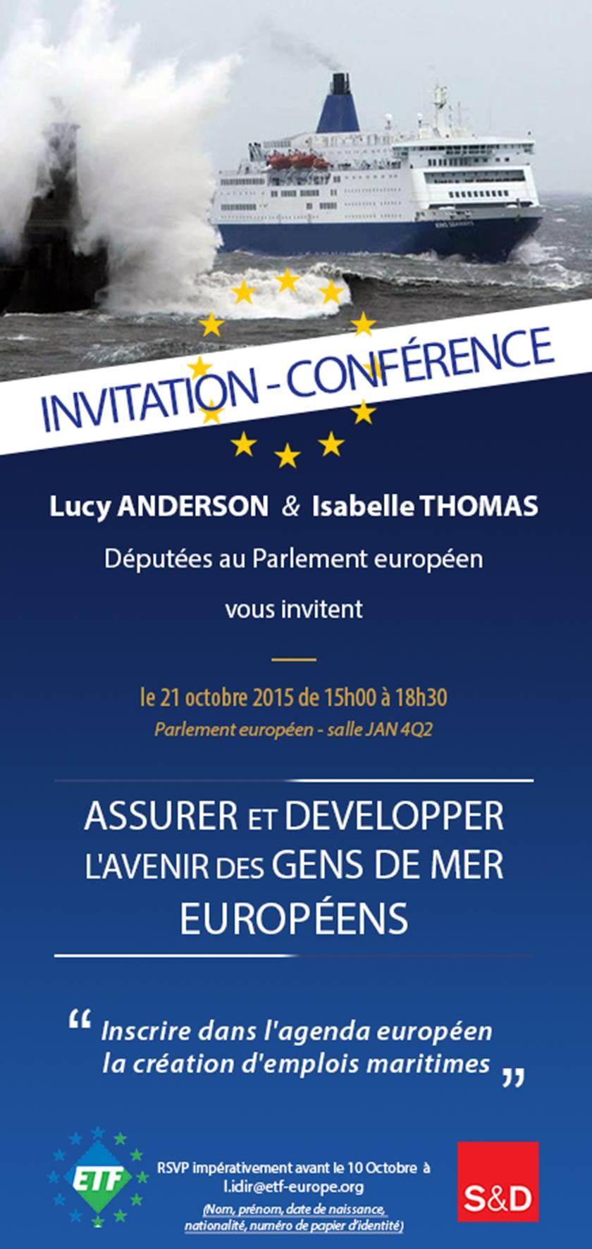 S&D Conférence: Assurer et développer l'avenir des gens de mer européens.