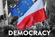 poland rule of law eu and polish flags