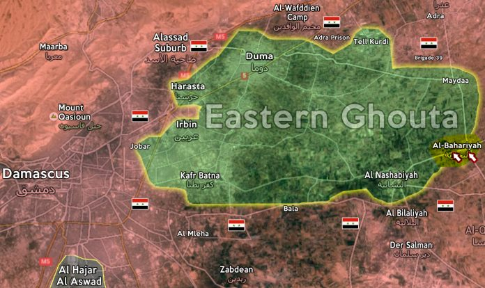 rebel-held Eastern Ghouta map