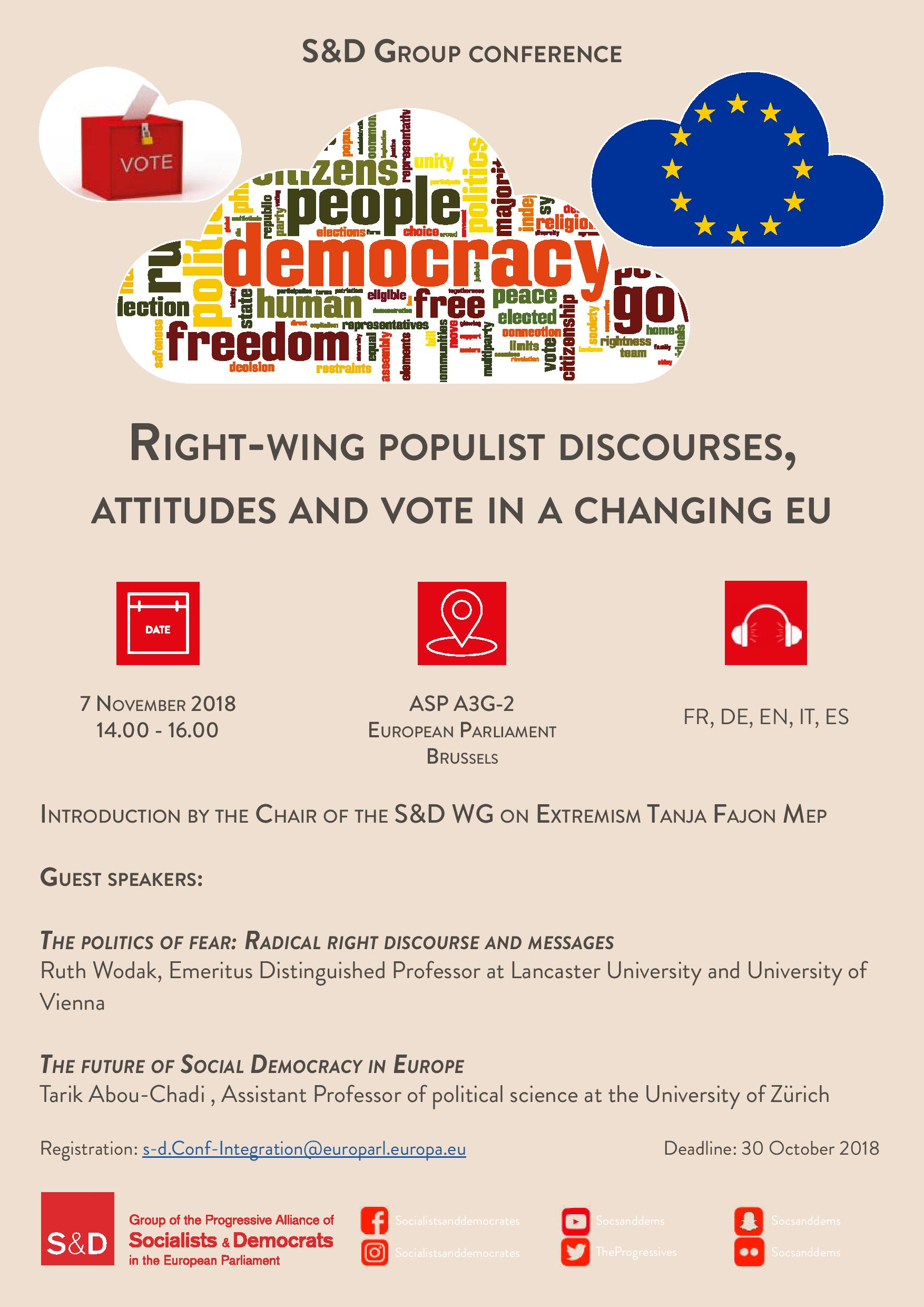 S&D confereence - Right wing populist discourses