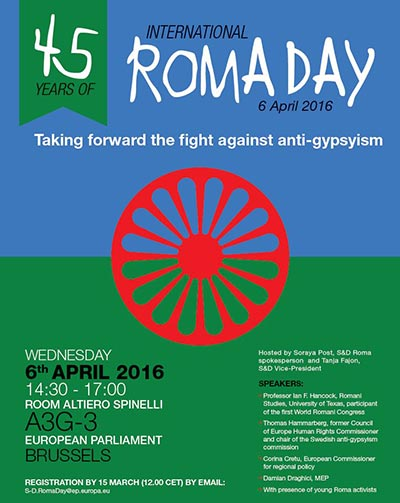 45 Years of International Roma Day - Taking forward the fight against anti-gypsyism