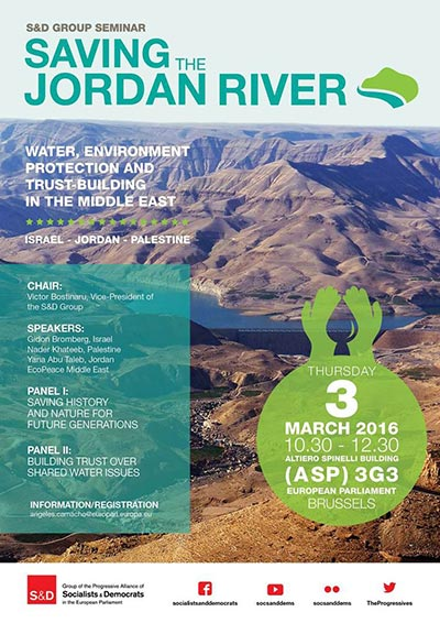 S&D Group Seminar on the Jordan River - Water, Environment and Trust-Building in the Middle East