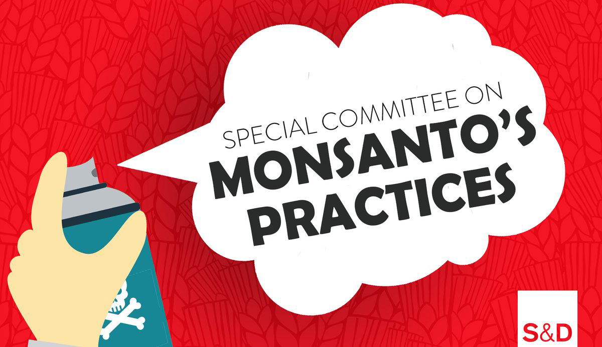 Speech bubble - special committee on Monsanto - glyphosate