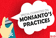 Spray dan on wall - special committee on Monsanto papers