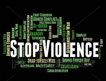 Stop violence and related words